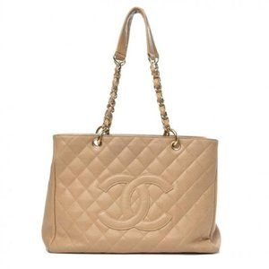 Chanel Shopping Caviar Quilted Grand Gst Clair